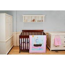 Sea Friends 5 Piece Reversible Portable Crib Bedding Set