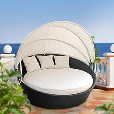 Snooze Canopy Outdoor Patio Daybed with Cushions