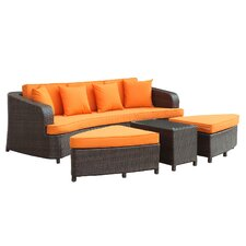 Monterey 4 Piece Deep Seating Group with Cushions II