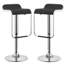 LEM Adjustable Height Swivel Bar Stool (Set of 2)