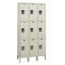 Galvanite 3 Tier 3 Wide School Locker