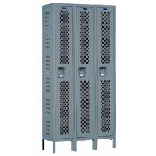 Heavy-Duty 2 Tier 3 Wide Ventilated Knock-Down Box Locker