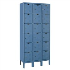 Premium 6 Tier 3 Wide Traditional Locker
