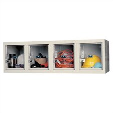 Safety-View 1 Tier 4 Wide Plus Stock Wall Mount Locker