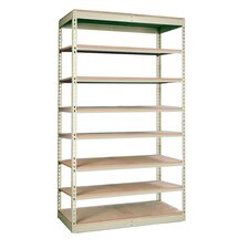 "Rivetwell Single Rivet Boltless 84"" H 8 Shelf Shelving Unit Add-on"