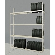 "Tire Storage  84"" H 4 Shelf Shelving Unit Starter"
