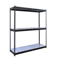 Rivetwell Double Boltless 3 Shelf Shelving Unit Starter