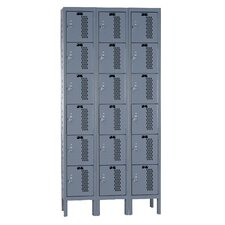 Heavy-Duty 6 Tier 3 Wide Ventilated Knock-Down Locker