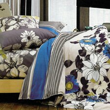 Rosewood Reversible 3 Piece Duvet Cover Set