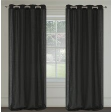Maestro Faux Linen Grommet Curtain Panels (Set of 2)