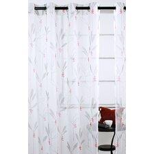 Shimmer Floral Sheer Grommet Curtain Panels (Set of 2)