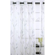 Shimmer Floral Sheer Grommet Curtain Panels (Set of 2)