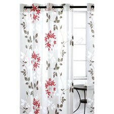 Dreamscape Semi Sheer Floral Burnout Grommet Curtain Panels (Set of 2)