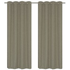 Eclipse Insulating, Room Darkening Grommet Curtain Panels (Set of 2)