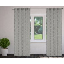 Fantasy Burnout Grommet Curtain Panels (Set of 2)