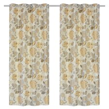 Caera Grommet Curtain Panel (Set of 2)