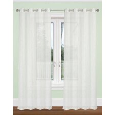 Aideen Textured Semi Sheer Curtain Panel (Set of 2)