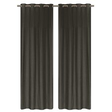 Vision Pleated Faux Silk Grommet Curtain Panel