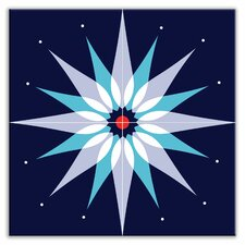 "Earth Quads 12"" x 12"" Glossy Decorative Tile Quad in Mod Dew Blue"