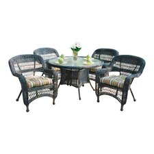Portside 5 Piece Dining Set with Cushions
