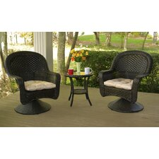 After Dinner 3 Piece Bistro Set with Light Brown Cushions