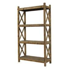 "Salvaged Cross Rack Shelf 79"" Standard Bookcase"
