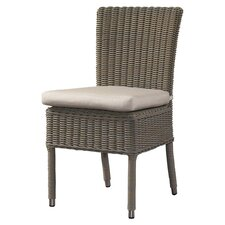 Outdoor Cottage Dining Side Chair With Cushion