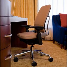 Leap® Leap Leather Office Chair with Polished Aluminum Frame