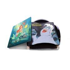 5 Piece the Little Mermaid Star Fire Prints Glass Coaster Set