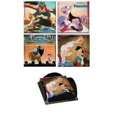 Pinocchio Glass Print Coaster (Set of 4)