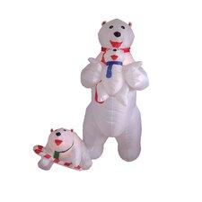 Christmas Inflatable Polar Bear Family Decoration