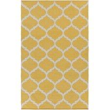 Vogue Yellow Geometric Everly Area Rug