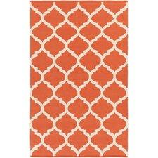 Vogue Orange Geometric Everly Area Rug