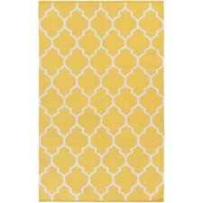Vogue Yellow Geometric Claire Area Rug