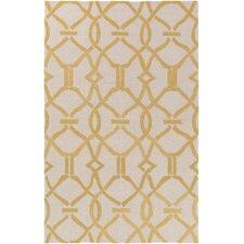 Marigold Serena Hand-Crafted Beige/Yellow Area Rug