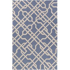 Marigold Catherine Hand-Crafted Denim Blue Area Rug