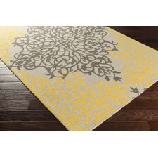 Hermitage Faith Hand Tufted Gold/Beige Area Rug