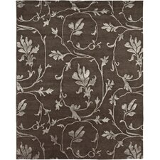 Orma Design Chocolate, Hand-Knotted Area Rug