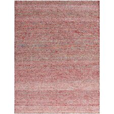 Amber Hand-Tufted Red Area Rug