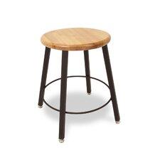 Round Hardwood Seat 4 Leg Stool