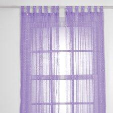 SparkleTastic Tab Top Single Curtain Panel (Set of 2)