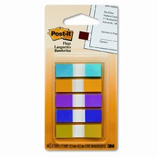 Small Flags, Five Bright Colors, Five Dispensers of 20 Flags per Color (Set of 2)