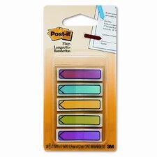 Arrow Flags, Five Assorted Bright Colors, 20 per Color, 100 per Pack (Set of 2)