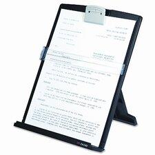 Fold-Flat Freestanding Desktop Copyholder, Plastic, 150 Sheet Capacity