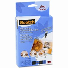 Scotch Self-Sealing Laminating Pouche with Clip, 25/Pack