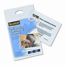 Self-Sealing Laminating Pouches, 9.6 mils, Wallet to 2-1/2 x 3-1/2, 5/Pk (Set of 3)