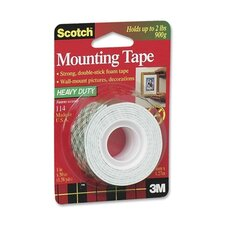 "Mounting Tape, Holds 2 lb., 1""x50"", White (Set of 2)"