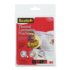 """Laminating Pouch, Index Card, 3-1/2""""x5-1/2"""", 20/PK, CL"""