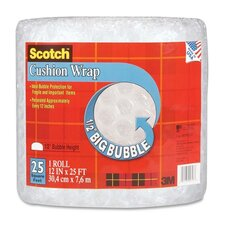 """Cushion Wrap, 12""""x25', 1/2"""" Bubble, Clear"""