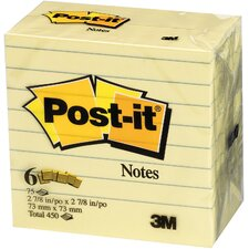 6 Count Post-it Notes in Yellow